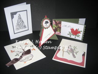 October 08 Card Club Projects