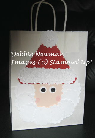 Santa Gift Bag 1 Punch Art