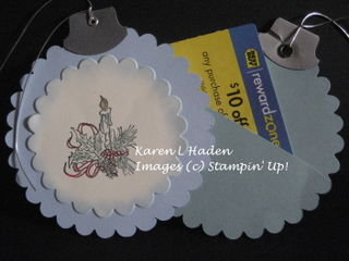 Keeping Christmas Ornament Gift Card2