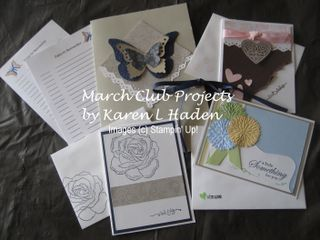 March 09 Club Projects