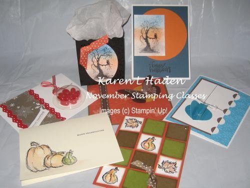 09' November Stamping Classes