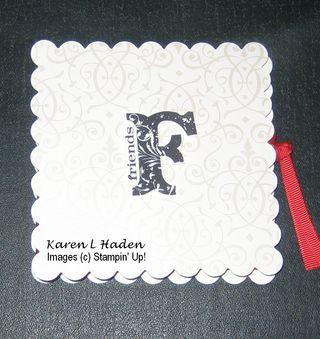 Scallop Tea Bag Card