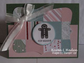 Top Note Candy Cane Designer Paper Card