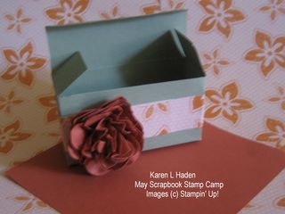 3-D box with flower
