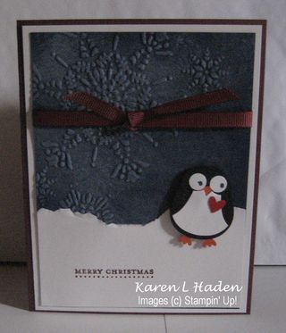 Northern Flurry Penguin Card