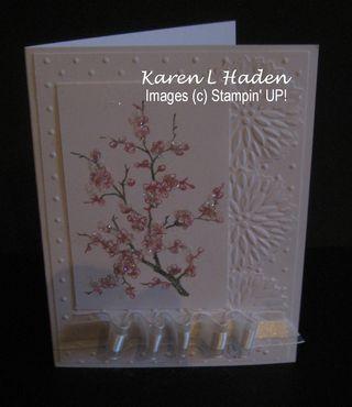 Spring Blossoms White Card 2