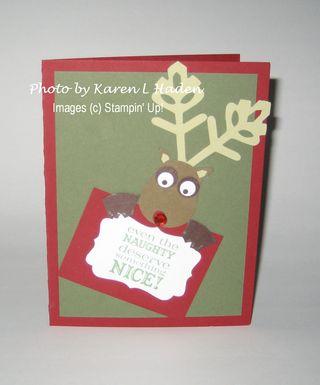 Reindeer Card by Debbie Wray