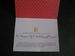 SU Birthday Card Open