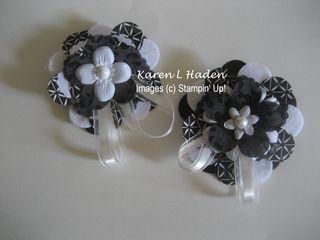 Black and White Big Shot Flowers