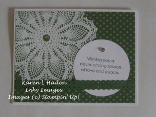 Hello Doily Christmas Card