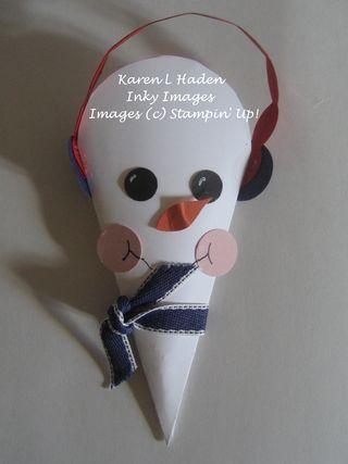 Petal Cone Snowman
