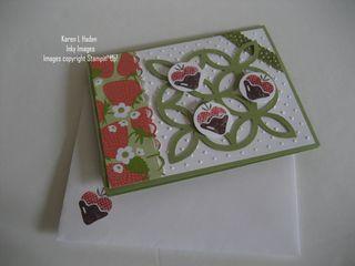 Strawberries and Lattice Card