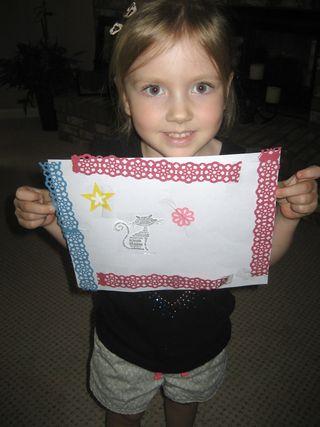 Emma with artwork