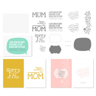 For Mom Greeting Card Template