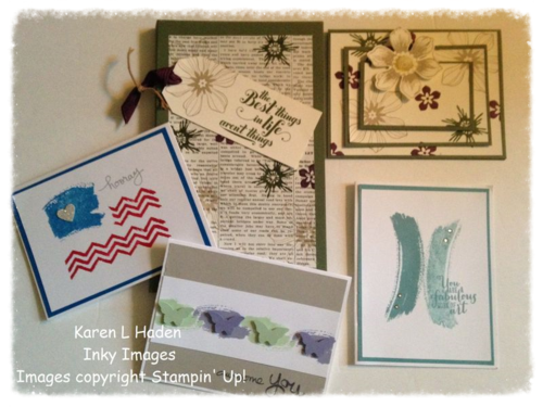 July 2014 Stamp Camp Projects