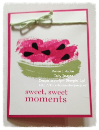 Watermellon Card