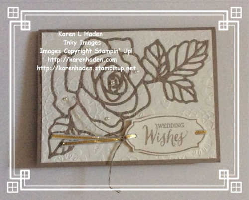 Rose Wonder Embossed Wedding Card