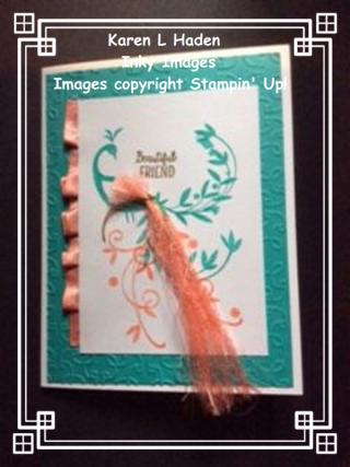 Beatiful Peacock Card