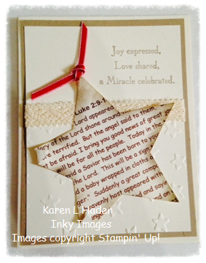 Christmas Story Star Card