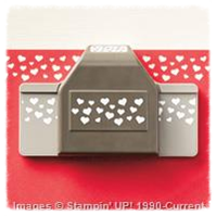 Confetti Hearts Border Punch