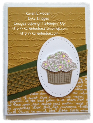Basket of Flowers Card