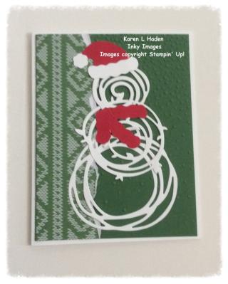Swirly Snowman Card