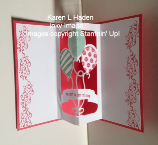 Pop Open Balloon Card open