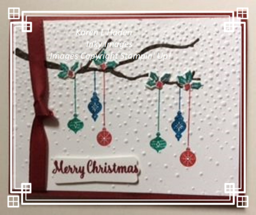 Hanging Ornament  Card