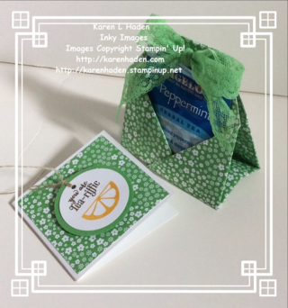 Tea Bag Holder and Gift Card