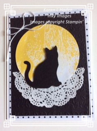 Cat in the Moon Card