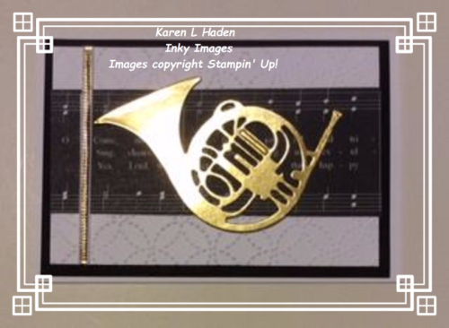 1 French Horn Card