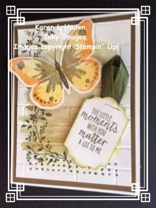 Watercolor Wings Brusho Card