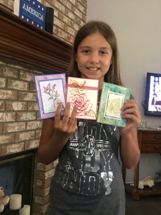 Taylor with Cards