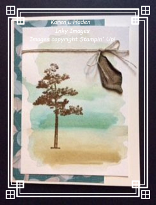 Watercolor Tree Card