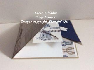 Double Diagonal Fold Card Partially Open
