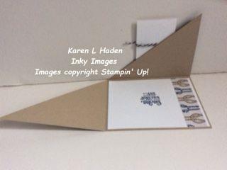 Double Diagonal Fold Card Open