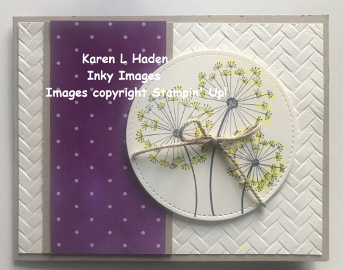 Dandelion Card Closed