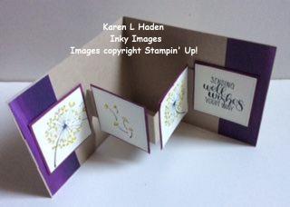 Dandelion Card Open