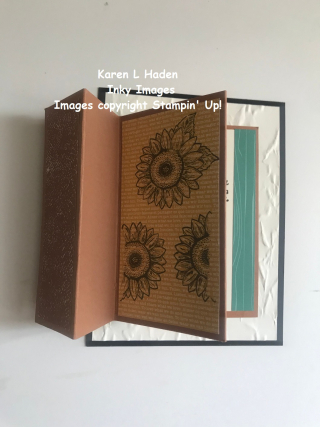 Accordian Fold Sunflower Card 2