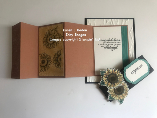 Accordian Fold Sunflower Card 3