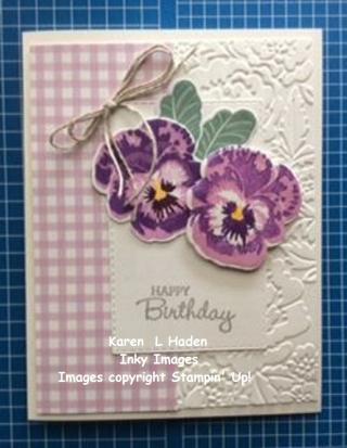 Birthday Pansies Card